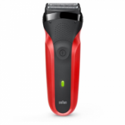 Braun Shaver 300TS Cordless, Charging time 60 h, Operating time 20 min, NiMH, Number of shaver heads/blades 3, Red/Black  44,90