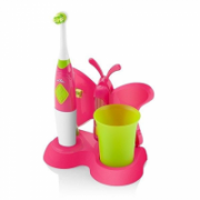 ETA Toothbrush with water cup and holder Sonetic  1294 90070 For kids, Pink / light green, 2, Number of brush heads included 2  12,90