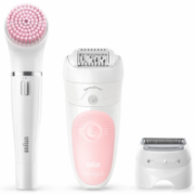 Braun Epilator Silk-épil Beauty Set 5-885 BS Operating time 30 min, Cordless, Number of speeds 2, White/Pink  79,00