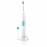 Philips HX6232/02 Electric toothbrush, 1 handle, 2 brush heads, 1 mode, White/Green  47,00