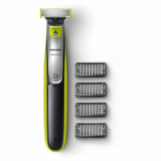 Philips OneBlade Shaver and styler QP2530/20 Warranty 24 month(s), Wet use, Rechargeable, Charging time 4 h, Long lasting Li-Ion battery, Battery, Number of shaver heads/blades 1, Black/Green  38,00