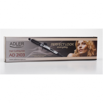 Adler Curling Iron AD 2103 Ceramic heating system, Barrel diameter 19 mm, Display No, 30 W, Black/ silver