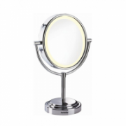 BABYLISS Chrome, 8435E Cosmetic mirror, 100-230 V, Yes, 8, No, Yes, Magnifying x5, swivel frame to tilt as desired, non-slip base, AA, 11 cm, 3xAA, (not supplied) or AC adapter (included)  28,90