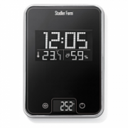 Stadler Kitchen scale ONE Black SFL0011/ Weight: max 3 kg/Functions: alarm, temperature, humidity, automatic shutoff/ Weight: 540gr/ Glass and plastic body  191,00