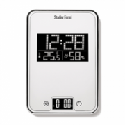 Stadler Kitchen scale ONE White SFL0011/ Weight: max 3 kg/ Functions: alarm, temperature, humidity, automatic shutoff/ Weight: 540gr/ Glass and plastic body  160,00