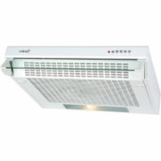 CATA F-2050 W Extractor hood, 3 extraction levels, 380kub.m, Lamps 2x40W, 120mm, Mechanical push button control, White  43,00