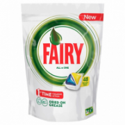 FAIRY Quantity per pack 48 pc(s), All in 1 Capsules for Dishwasher, Lemon  19,00