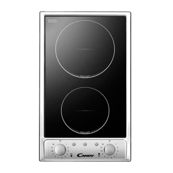 Candy Hob CDH 32/1X Vitroceramic, Number of burners/cooking zones 2, Black,