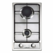 CATA Hob 302 TI Gas, Number of burners/cooking zones 2, Stainless steel,  82,00