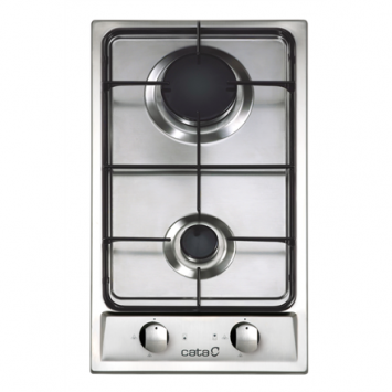 CATA Hob 302 TI Gas, Number of burners/cooking zones 2, Stainless steel,