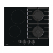 Gorenje Hob GCE691BSC Induction and gas, Number of burners/cooking zones 4, Mechanical, Black  294,90