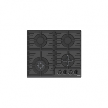 Gorenje Hob GTW641B Gas on glass, Number of burners/cooking zones 4, Black,