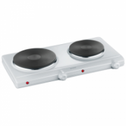 Severin Table hob DK 1042 Number of burners/cooking zones 2, Stainless steel, Control type Rotary, White  37,00