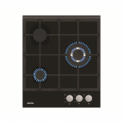 Simfer Hob H4.305.HGSSP Gas on glass, Number of burners/cooking zones 3, Rotary painted inox knobs, Black, 45 cm  155,00