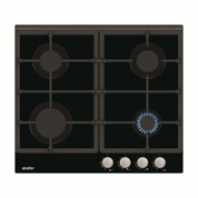 Simfer Hob H6.401.HGSSP Gas, Number of burners/cooking zones 4, Rotary painted inox knobs, Black,  170,00