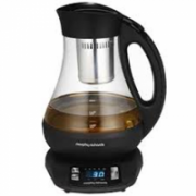 Morphy richards 43970 Type Tea maker, Glass/Black, 2200 W, 1 L, 360° rotational base  118,00