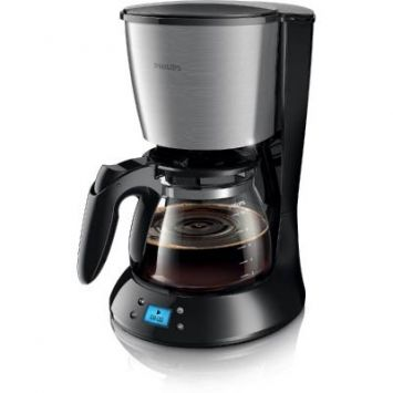 Philips Daily Collection Coffee maker HD7459/20 With glass jug With timer Black & metal