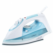 Adler AD 5014 Steam iron, High quality ceramic soleplate, Vertical steam, Self-Clean function, Continuous steam, Water tank 260 ml, Anti-drip, Anti-Calc function, White/Blue Adler  21,00