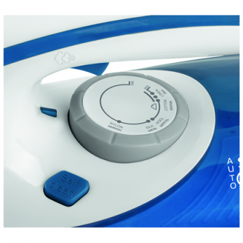 Scarlett SC - SI30K29 Blue, 2600 W, Steam iron, Continuous steam 45 g/min, Steam boost performance 190 g/min, Auto power off, Anti-drip function, Anti-scale system, Vertical steam function, Water tank capacity 480 ml