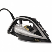 TEFAL Turbo Pro Iron FV5655E0 Grey/ black, 2600 W, Steam iron, Continuous steam 50 g/min, Steam boost performance 220 g/min, Anti-drip function, Anti-scale system, Vertical steam function, Water tank capacity 300 ml  78,00