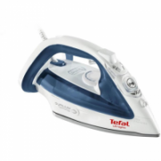 TEFAL Ultragliss  FV4913E0 White/ blue, 2500 W, Steam iron, Continuous steam 40 g/min, Steam boost performance 270 g/min, Anti-drip function, Anti-scale system, Vertical steam function, Water tank capacity 270 ml  47,00