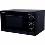 Sharp R200BKE Microwave Oven/Capacity 20L/Power 800W/Mechanical control/Black  235,00