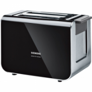 SIEMENS Toaster TT86103 Black, Stainless steel, 860 W, Number of slots 2, Number of power levels 5, Bun warmer included  69,00
