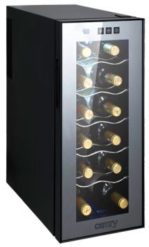 Camry Wine Cooler CR 8068, 33L, A, shelves for 12 bottles, control panel with touch buttons, emperature adjustment 12-18C, black Camry Wine Cooler CR 8068 Showcase, Black