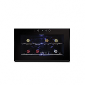 Caso Wine cooler WineCase 8 Table, Bottles capacity 8, Cooling type PELTIER TECHNOLOGY, Black