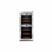Caso Wine cooler WineComfort 24 Free standing, 2 Zones, 5-20 C,  Wooden Shelves, Table top, Bottles capacity 24, A Class, 139 kWh/Y, 39 dBA, UV Filter Glass, Stainless Steel  592,00
