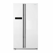 DAEWOO Refrigerator FRN-X22B4CW Free standing, Side by Side, Height 184 cm, A, No Frost system, Fridge net capacity 380 L, Freezer net capacity 240 L, Display, 43 dB, White  735,00
