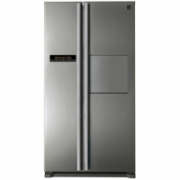DAEWOO Refrigerator FRN-X22H4CSI Free standing, Side by Side, Height 177 cm, A, No Frost system, Fridge net capacity 380 L, Freezer net capacity 228 L, Display, 43 dB, Inox  821,00