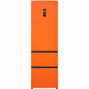 Haier A2FE635COJ Refrigerator ORANGE/Reversible door/ 191x60x67cm/Fridge 201L/Freezer 99L/No Frost/EC A+     2.743,00