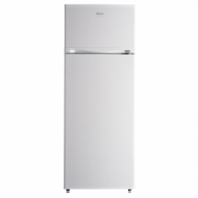 Haier HRFK-250DAA Refrigerator, Double Door, Freezer position Top, Height 144 cm, A+, Fridge net capacity 166 L, Freezer net capacity 40 L, 42 dB, White  193,00