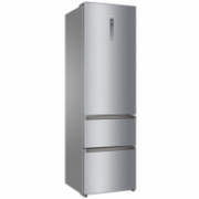 Haier Refrigerator A3FE737CMJ Free standing, Combi, Height 200 cm, A++, No Frost system, Fridge net capacity 253 L, Freezer net capacity 97 L, Display, 40 dB, Silver  739,00