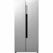 Haier Refrigerator HRF-450DS6  Free standing, Side by Side, Height 179 cm, A+, No Frost system, Fridge net capacity 273 L, Freezer net capacity 177 L, Display, 38 dB, Silver  744,00