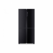 Haier Refrigerator HTF-456DN6 Free standing, Side by side, Height 181 cm, A+, No Frost system, Fridge net capacity 316 L, Freezer net capacity 140 L, Display, 40 dB, Black  1028,00