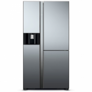Hitachi Refrigerator R-M700AGPRU4X (MIR) Free standing, Side by Side, Height 179.5 cm, A++, No Frost system, Fridge net capacity 372 L, Freezer net capacity 212 L, Display, 44 dB, Mirror  2341,00