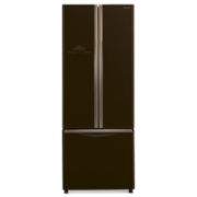 Hitachi Refrigerator R-WB480PRU2 (GBW) Free standing, Combi, Height 178 cm, A+, No Frost system, Fridge net capacity 298 L, Freezer net capacity 84 L, Display, 41 dB, Brown glass  971,00