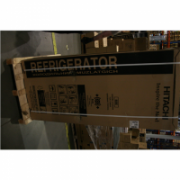 Hitachi Refrigerator R-WB480PRU2 (GS) Free standing, Side by Side, Height 178 cm, A+, No Frost system, Fridge net capacity 298 L, Freezer net capacity 84 L, Display, 41 dB, Silver glass, USED, REFURBISHED, HAVE SCRATCHES, ONE SHELF HAVE CRACK, WITHOUT ORI  692,00