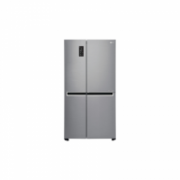 LG GSB760PZXV Freestanding, Fridge-freezer, Freezer position Side by Side, Height 179 cm, A+, No Frost system, Fridge net capacity 406 L, Freezer net capacity 220 L, Display, 39 dB, Stainless steel  736,00