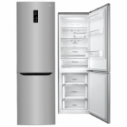 LG Refrigerator GBB59PZFZS Free standing, Combi, Height 190 cm, A++, No Frost system, Fridge net capacity 225 L, Freezer net capacity 93 L, Display, 37 dB, Inox  475,00