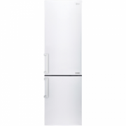 LG Refrigerator GBB60SWGFE Free standing, Combi, Height 201 cm, A+++, No Frost system, Fridge net capacity 250 L, Freezer net capacity 93 L, Display, 37 dB, White  539,00