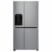 LG Refrigerator GSL760PZXV Free standing, Side by Side, Height 179 cm, A+, No Frost system, Fridge net capacity 405 L, Freezer net capacity 196 L, Display, 39 dB, Inox  853,00