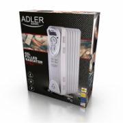 Adler AD 7807 Oil Filled Radiator, Number of power levels 2, 1500 W, Number of fins 7, White  35,00