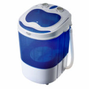 Adler AD 8051 Mini washing machine with spinning function, Washing capacity up to 3kg, Spinning capacity up to 1kg, White-Blue  55,00