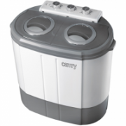 Camry CR 8052 Mini washing machine with spinning function, Washing capacity up to 3kg, Spinning capacity up to 1kg, White-Gray  85,00