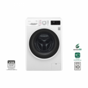 LG Steam washing machine F2J6QY0W Front loading, Washing capacity 7 kg, 1200 RPM, Direct drive, A+++, Depth 56 cm, Width 60 cm, White, Steam function  394,00