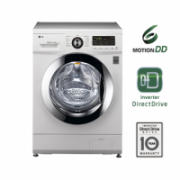 LG Washing machine FH296NDA3 Front loading, Washing capacity 6 kg, 1200 RPM, Direct drive, A, Depth 44 cm, Width 60 cm, White  306,00