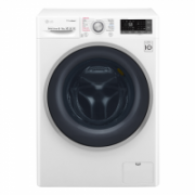 LG Washing machine with dryer F4J7FH1W Front loading, Washing capacity 9 kg, Drying capacity 6 kg, 1400 RPM, Direct drive, A, Depth 56 cm, Width 60 cm, White, Drying system, LED, Display, Steam function  611,00
